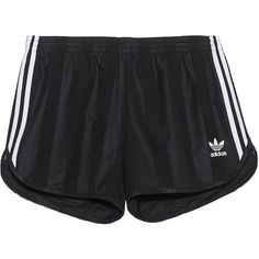 ADIDAS ORIGINALS Football Black // Track shorts ($55) ❤ liked on Polyvore featuring men's fashion, men's clothing, men's activewear, men's activewear shorts and adidas originals