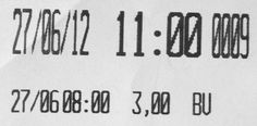 receipt font width difference
