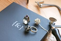 A sneak peek at jewels coming to life in the Fairina Cheng studio. Delightfully geometric, rule-breaking jewellery.