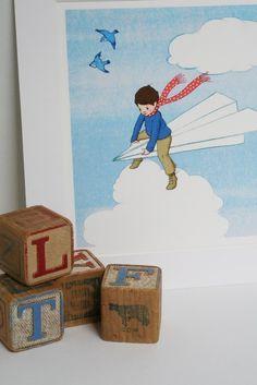 My Paper Plane by belleandboo on Etsy. Could look good with our Amy Rice print...