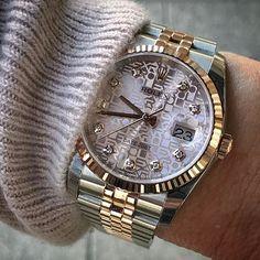 DATEJUST 36 mm Pink jubilee dial Ref 116231 | http://ift.tt/2cBdL3X shares Rolex Watches collection #Get #men #rolex #watches #fashion