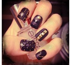 BBB Pretty Not your usual goth: new and improved black nail art Get Nails, Fancy Nails, Love Nails, How To Do Nails, Hair And Nails, Matte Nails, Beautiful Nail Designs, Cute Nail Designs, Gorgeous Nails