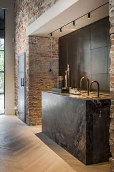 Jolting Cool Tips: Industrial House Layout industrial chic exterior.Old Industrial House industrial furniture storage. Kitchen Inspirations, House Design, Interior Design Kitchen, House Interior, Kitchen Interior, Interior, Exposed Brick, Industrial Kitchen Design, Industrial House