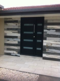 Look what we have done with our 8027 timber tiles for this outdoor entrance.
