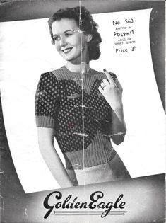 A really classic knitting pattern this month, a solid 1940s number with a sweet two-colour design and shaped rib. It even has two little poc...