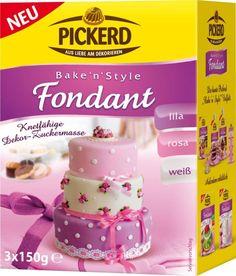 Pickerd - Fondant Dekor-Zuckermasse - 3x150g