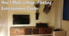 Home interior design ideas and inspiration: elegant floating entertainment center at curved wall mount tv Floating Entertainment Center, Entertainment Room, Floating Media Console, Floating Shelves, Tv Wall Cabinets, Living Room Plan, Curved Walls, Wall Decor Pictures, Repurposed Furniture