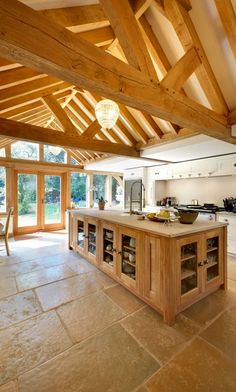With many homeowners choosing to extend their properties rather than move, an oak garden room is ideal… Timber Frame Homes, Timber House, Timber Frames, Garden Room Extensions, House Extensions, Rustic Home Design, Luxury Kitchen Design, Orangerie Extension, Orangery Extension Kitchen