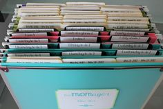 The Oxford Place Diaries: Weekly Folders and the File Box **Post #2 in the MOMager Series**