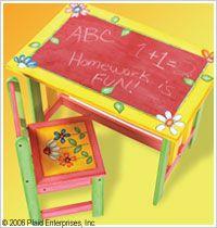 FolkArt ® Chalkboard Paint - Black, 8 oz. Make your own chalkboard out of wooden furniture.