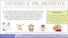 Best vitamin E oil benefits are a brand new article revealing wonderful advantages that vitamin E oil brings to human beauty and health.