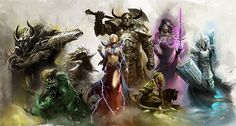 Guild Wars takes the fundamental elements of the examplary MMORPG.