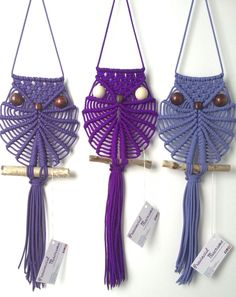 Macrame owls wall hanging
