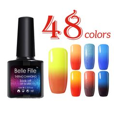 BELLE FILLE 10ml Clear Color Temperature Gel Polish Color Change UV Gel Varnishes Lacquer Home Manicure soak off gel polish