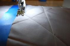 Use these straight line quilting techniques along with the Walking foot #50 for perfectly placed straight quilt lines.
