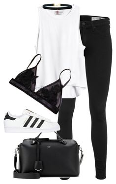 """Untitled #1560"" by beatifuletopshop ❤ liked on Polyvore featuring rag & bone, Fendi and adidas Originals"