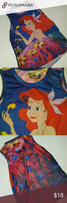 Disney Ariel Sheer Tank NWOT Size small 100% polyester New without Tags..Perfect for that special Disney Addict in your life. Disney Tops Tank Tops