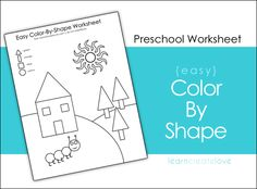 Color by Shape Printable