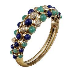 Cartier Paris Nouvelle Vague bracelet - yellow gold, diamonds, & colored stones (=)