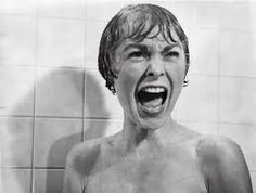 In the shower scene from the film Psycho, Marion Crane (played by Janet Leigh) screams in terror as Norman Bates tears open her shower curtain. Norman Bates, Martin Scorsese, Alfred Hitchcock, Charlie Chaplin, Scary Movies, Good Movies, Terrifying Movies, Watch Movies, Mejores Thrillers