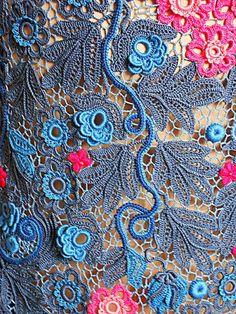 """платье. """"Сапфир """" в технике ирландского кружева – купить в интернет-магазине на Ярмарке Мастеров с доставкой - 7UZCPRU"""