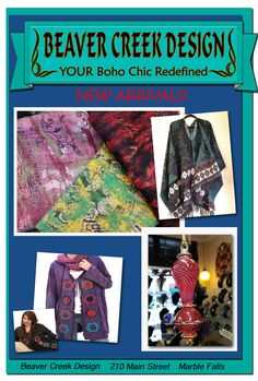 New Arrivals...Hand made by the women of Nepal! Gorgeous Reversible Pashima Ponchos...Luxurious and so soft! Silk and Wool felted scarves & Egyptian Blown Glass Ornaments decorated with 24 karat Gold! SHOP LOCAL in Marble Falls at Beaver Creek Design 210 Historic Main Street Marble Falls Your One Stop Shopping for Elegant to Casual Gifts and Accessories! Please tell Beverly that www.WeAreMarbleFalls.com sent you! Beaver Creek Design - 210 Main Street - Marble Falls