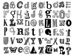 great way to pay attention to typography. by Don Moyer Scripture Lettering, Graffiti Lettering Fonts, Hand Lettering Alphabet, Doodle Lettering, Creative Lettering, Handwritten Letters, Lettering Design, Typography, Alphabet Art