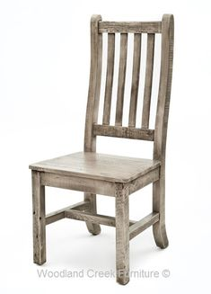 Cottage Chair with Curved Back in Gray Wash