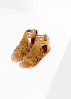 1ecf0fbb1c49 Fringe suede sandals Shoes Flats Sandals