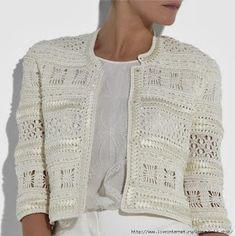 Knitting Cardigan Lace Crochet Patterns Ideas For 2019 Gilet Crochet, Crochet Coat, Crochet Jacket, Crochet Cardigan, Crochet Clothes, Crochet Russo, Knitting Patterns, Crochet Patterns, Black Crochet Dress