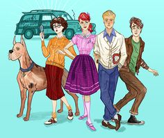 Mystery Inc in the 50s.