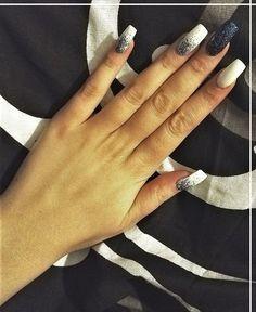 Winter nail art ♥ blue shimmer