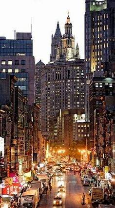 Chinatown and Woolworth Tower, Manhattan, NY (by Franz Marc Frei)