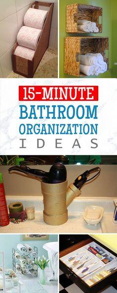 15-Minute DIY Bathroom Organization Ideas More