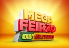 Mega feirão lw eletro - 2016 on behance tipografi, game design. Vector Design, Logo Design, Graphic Design, Cinema 4d, Game Design, Logo 3d, 3d Type, Adobe Illustrator Tutorials, Pineapple Images
