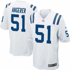 ce0b30f34 ... Pat Angerer Jersey Indianapolis Colts 51 Men Elite Jersey White Nike  NFL Jersey Sale ...