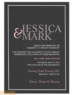 Potluck Wedding Reception Invitation Wording as perfect invitations design