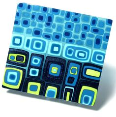 By Kim Brill. I really like the #retro look in this #glass that comes with the rounded corners.  www.FusedArtGlassByKimBrill.com