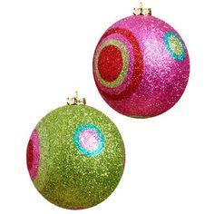 Polka Dot Ball Christmas Ornaments