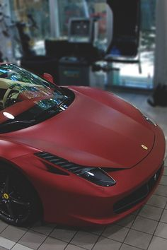458 Spyder in dark matte red