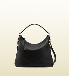 miss GG leather hobo
