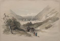 Entrance to Nablus   Cleveland Museum of Art, David Roberts