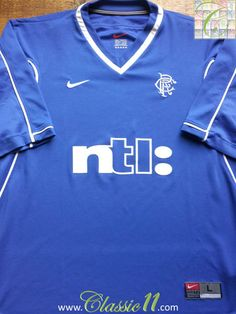 Relive Glasgow Rangers' 1999/2000 season with this vintage Nike home football shirt.