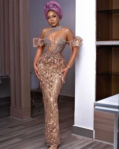 African Inspired Fashion, Latest African Fashion Dresses, African Print Fashion, Ankara Fashion, Aso Ebi Lace Styles, Lace Dress Styles, Award Show Dresses, Dinner Gowns, African Dress