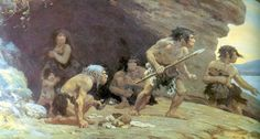 MURKY RELATIONS  Once thought of as cavemen, Neandertals may have built structures, researchers discovered 50 years ago. The finding led to speculation that Neandertals were direct ancestors of modern humans, a conclusion that is still hotly debated. ~~ Charles Robert Knight