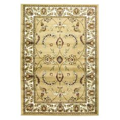 Designed with an intricately floral detailed border, this beige Persian style rug is made with a short polypropylene pile for long lasting and hard wearing use. Large Rugs, Shaggy, Modern Rugs, Soft Furnishings, Bohemian Rug, Neutral, Beige, Living Room, Collection