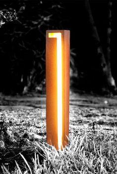 Gest -  BOLLARD LIGHT - garden bollard light - bespoke outdoor lighting - modern bollard lights - decking leds
