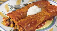 Tofu Black Bean Enchiladas -- Vegetarian fare, yes. But the whole family will love it!