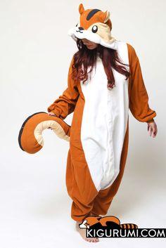 Chipmunk Onesie Kigurumi Animal Costume Fleece Adult Pajamas
