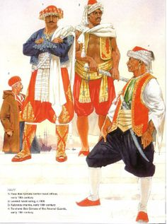 Typical clothing for Barbary corsairs sanctioned by the Ottoman Empire ...